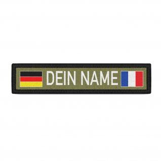 Namensschild Dein Name Personalisiert Frankreich Patch Aufnäher Klett #37018