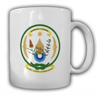 Republik Ruanda Wappen Emblem Kaffee Becher Tasse #13868
