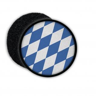 Patch Klett Flausch Bayern blau weiß Rautenflagge bayerische Flagge #22621