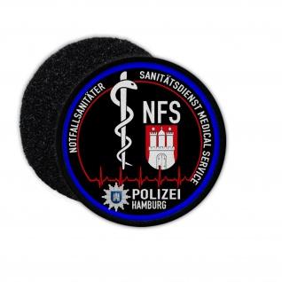 Patch Rund NFS Polizei Hamburg Notfall Sanitäter Sanitätsdienst Medical #31667