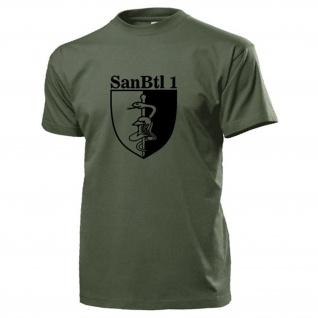 Sanitätsbataillon 1 SanBtl BW Wappen Abzeichen Sanitäter - T Shirt #17931