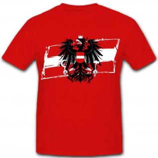 Österreich Austria Fahne Flagge Wappen Emblem Adler - T Shirt #7671