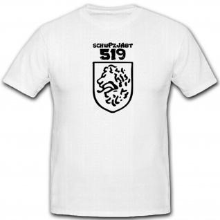 schwPzJAbt 519 schwere Panzerjäger Abteilung Wh Wappen Abzeichen T Shirt #12768