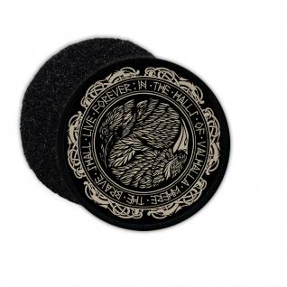Patch Hugin und Munin Ying Yang Valhalla Raben Odin Wikinger 9cm#36354