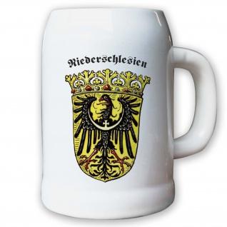 Krug / Bierkrug 0, 5l - Provinz Niederschlesien Landeswappen Stadtwappen #9491 K