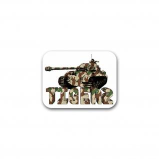 Aufkleber/Sticker Tiger 2 Panzer Königstiger Panzerkampfwagen 9x7cm A2674