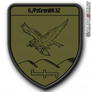 Patch / Aufnäher - 6 PzGrenBtl 32 - Bundeswehr Deutschland Variante 2 #8900
