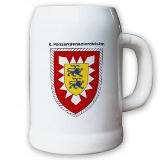Krug / Bierkrug 0, 5l -Bierkrug 6. panzergrenadierdivision PzGrenDiv #12965