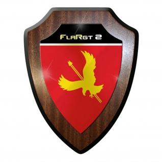 Wappenschild / Wandschild - FlaRgt 2 Flugabwehrregiment Bundeswehr #11651