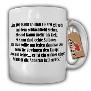 Tasse Der wahre Krieger Sparta 100 Hundert Mann Soldaten Krieg Kampf #16087