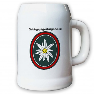 Krug / Bierkrug 0, 5l -Bierkrug Gebirgsjägerbrigade 23 GebJgBrig 23 Süd #13018