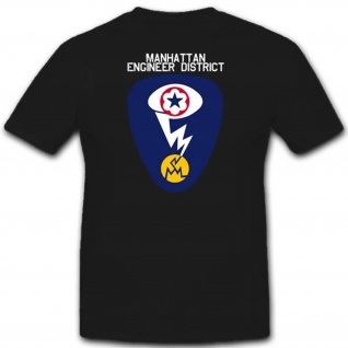 Wk Wappen Abzeichen Emblem Manhattan Engineer District - T Shirt #3079