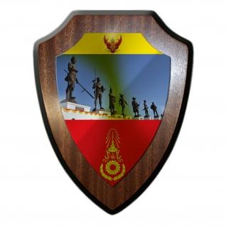 Thailands Könige Royal Thai Army RTA Thailand Heer Militär Wappenschild #17942