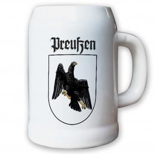 Krug Bierkrug 0, 5l - Preußen Adler Deutschland Wappen Abzeichen #9404