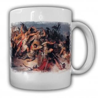 Tasse Schlacht zwischen Römern und Germanen am Rhein Friedrich Tüshaus #17899