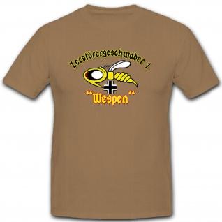 Zerstörergeschwader 1 Wespen Luftwaffe Militär Einheit Wappen - T Shirt #12192