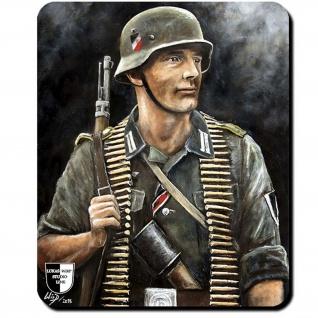 Mauspad Lukas Wirp Deutscher Landser Soldat Landser Karabiner 98K Gefreiter #24106