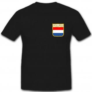 Netherlands Holland Niederlande Flagge Fahne Wappen Abzeichen - T Shirt #2654