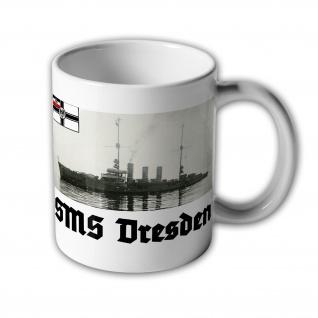 Tasse SMS Dresden Kleiner Kreuzer Cöln Klasse Marine Schiff 1 #31447