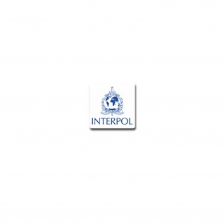 Interpol Aufkleber Internationale Kriminalpolizeiliche Organisation 7x7cm#A3825