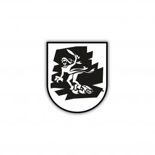 Aufkleber/Sticker 3.PzBtl 64 Wappen Abzeichen BW Panzerbataillon 7x5cm A1235