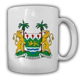 Republik Sierra Leone Wappen Emblem Kaffee Becher Tasse #13897