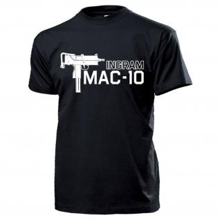 MAC-10 Ingram UZI Maschinenpistole US Army USA Waffe Amerika T Shirt #16032
