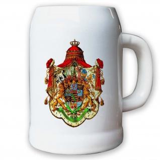 Krug / Bierkrug 0, 5l - Haus Wettin Albert von Sachsen Streitkräfte #9420 K