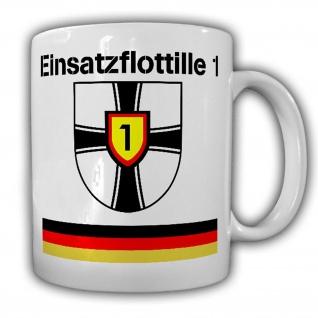 Tasse Einsatzflottille 1 EinsFltl Bundesmarine Bundeswehr Abzeichen #22752