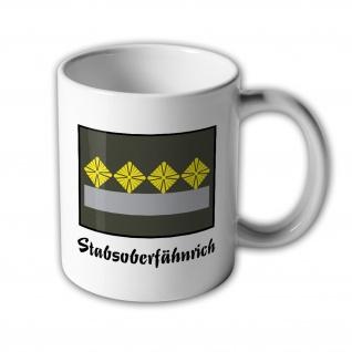 NVA UTV Oberstabsfähnrich Tasse Dienstgrad DDR Ostdeutschland Ossi #30507