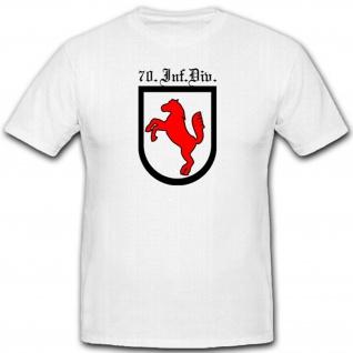 Infanterie Division Einheit Wh Militär WK 70 InfDiv WK Wappen T Shirt #2657