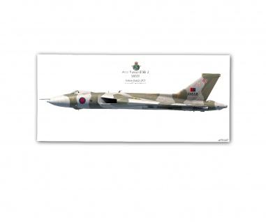 Poster rOEN911 Avro Vulvan B Mk 2 XH558 Royal Air Force ab30x14cm#30391