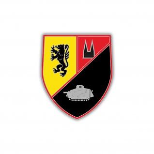 Aufkleber/Sticker PzBl 534 Wappen Abzeichen Heer Panzerbataillon 7x6cm A1225