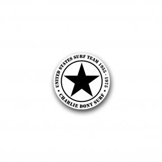 Aufkleber/Sticker Charlie don't surf First Air Cavalery Humor Spaß 7x7cm A1646