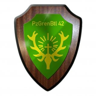 Wappenschild PzGrenBtl 42 Panzergenadier Bataillon BW Wappen Emblem #16126