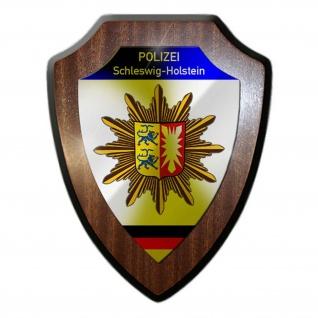 Wappenschild Polizei Schleswig-Holstein Wappen Abzeichen Kiel Dienstzeit #23081