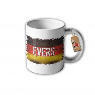 Tasse Evers Deutschland Fahne Flagge Kaffebecher Eigentum Personalisiert #31727