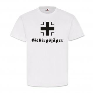 Balkenkreuz Heer Gebirgsjäger Eisernes Kreuz Hoheitszeichen Deutsch - T Shirt #489