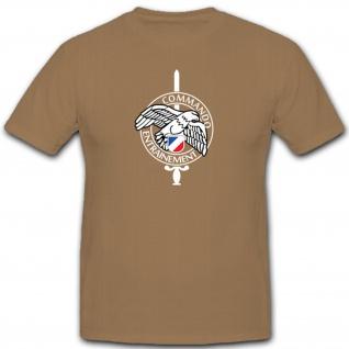 Abzeichen Commando Entrainement Frankreich France Wappen Emblem - T Shirt #4600