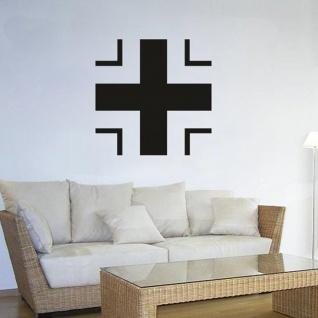 Balkenkreuz Bk Wappen Abzeichen Emblem - Wandschmuck (ca. 45x45cm schwarz) #3438