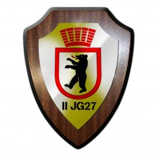 II JG 27 Jagdgeschwader Einheit Luftwaffe Militär Wappenschild #19767
