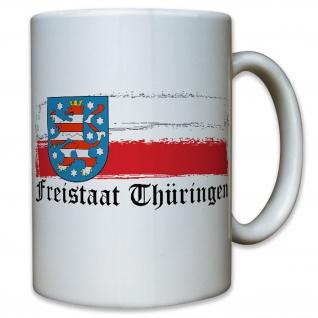 Freistaat Thüringen Deutschland Bundesland Löwe Wappen Abzeichen - Tasse #9219 t