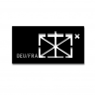 Lackierschablonenaufkleber DEU-FRA Stab Deutsch Französische 14x33cm#A4099