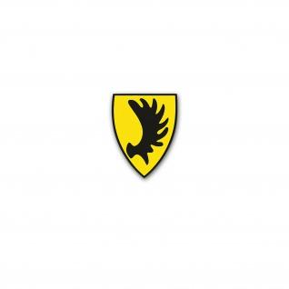 Altes Schlesien Wappen Schlesier Adler Breslau Polen 7x6 cm #A4643