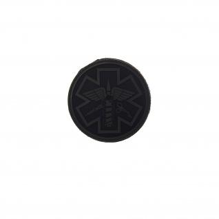 3D Rubber Para Medical Patch Erstehilfe Sanitäter Feuerwehr 8x8 cm#26915