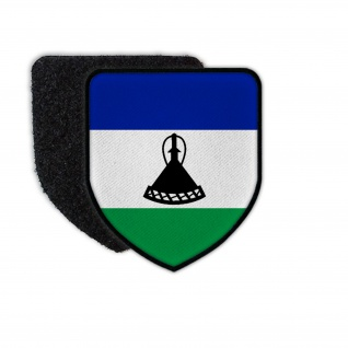 Patch Flag of Lesotho Flagge Land Staat Wappen Landesflagge Aufnäher #31547