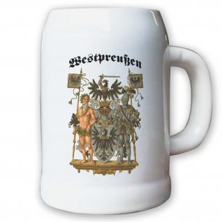 Krug / Bierkrug 0, 5l -Preußische Provinz Westpreußen Landeswappen Abzeichen#9489
