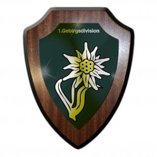 Wappenschild 1 Gebirgsdivision Großverband Heer Wappen Abzeichen Garde #31585
