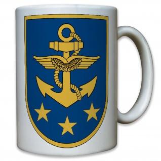 Marinekommando Marine Bundeswehr Bund Bw Wappen Abzeichen - Tasse #11606