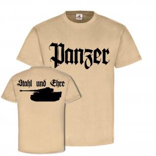 Panzer - Stahl und Ehre Panzerkampfwagen Tiger Legende Kommando T-Shirt #20604